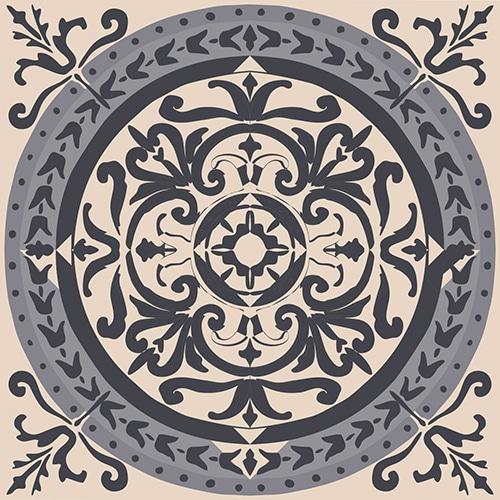 Sticker autocollant décoration ciment gris pour carrelage