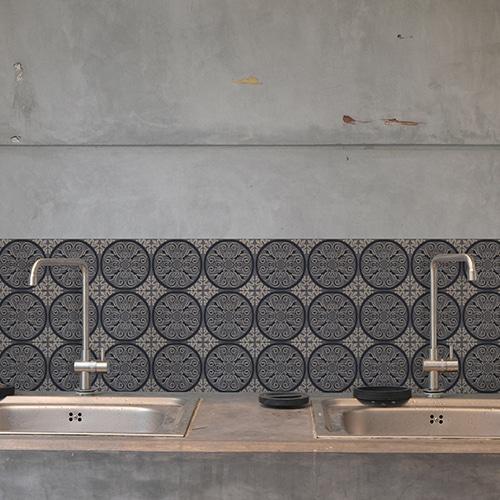 Adhésif ciment gris pour déco carrelage en béton gris pour cuisine