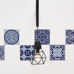 Stickers adhésif imitation Ciment bleutés