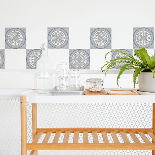 Autocollant mural imitation Carrelage Carreaux de Ciment Souris cuisine