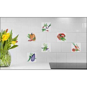 Sticker Carrelage Aquarelle pour cuisine