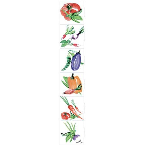 Sticker Carrelage Aquarelle de couleurs pour déco