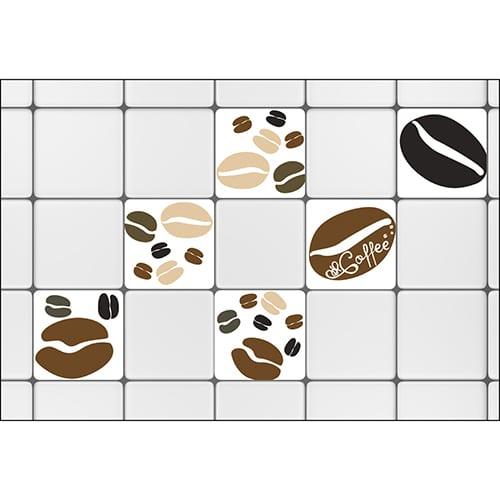 Sticker Coffee Time carrelage cuisine ou salle de bain
