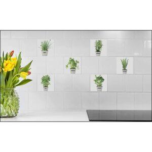 Autocollant carrelage Fines herbes aromatiques dans une cuisine