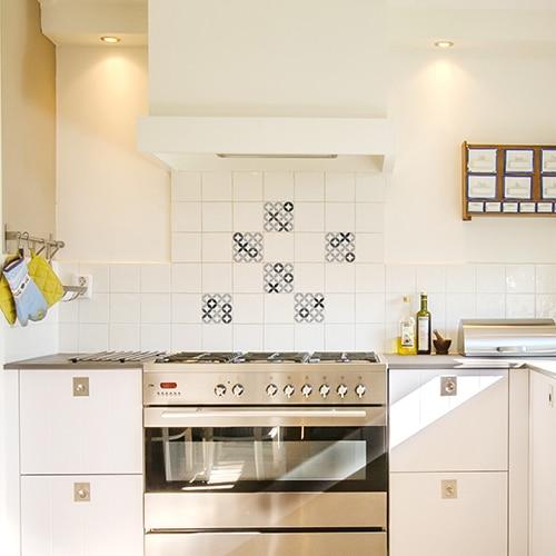 Stickers imitation Carreaux de ciment XOXO dans cuisine