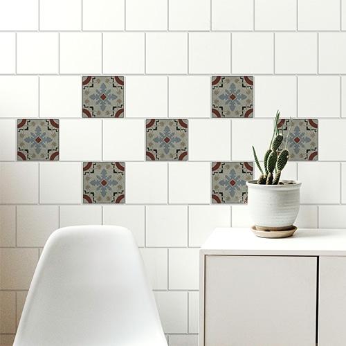 Stickers adhésifs Ozzano pour carrelage déco de salon