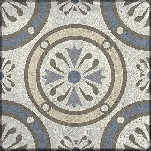 Sticker adhésif déco gamme Borgatella gris pour carrelage mural