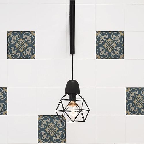 Sticker adhésif effet Carrelage Celletta avec lampe design