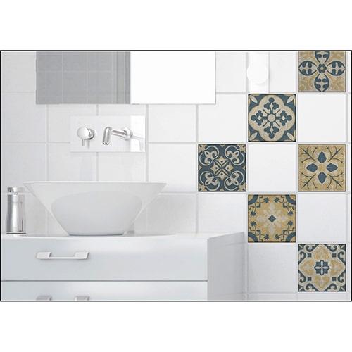 Sticker effet carrelage celletta dans une salle de bain