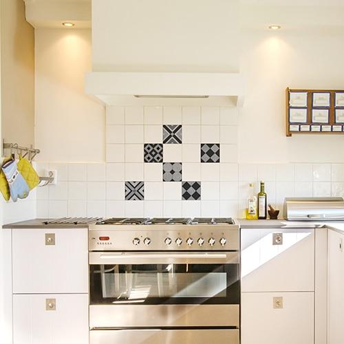 Stickers Ciment graphique dans une cuisine