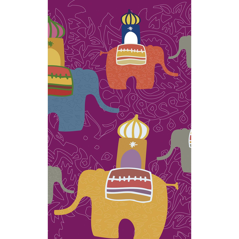 panoramique multicolore éléphants