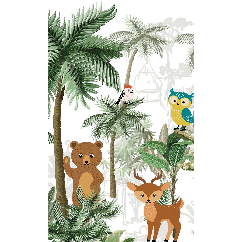 panoramique papier intissé animaux de la forêt