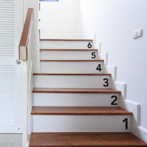 ambiance escalier avec chiffres